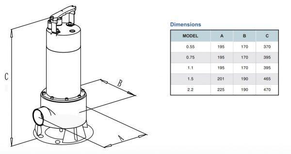 chi tiết kích thước sản phẩm vs